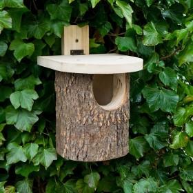 Natural Log Robin Nest Box