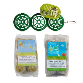 Suet Balls & Basketball Suet Feeder Bundle