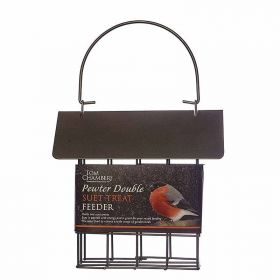 Pewter Double Suet Block Feeder