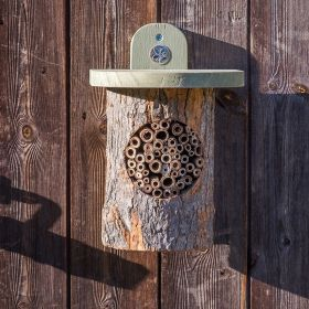 Wicken Fen Natural Bee Log National Trust